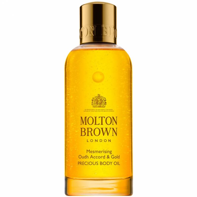 Molton Brown Mesmerising Oudh Accord & Gold Precious Body Oil (100ml) i gruppen Kroppsvård / Kroppsåterfuktning / Kroppsolja hos Bangerhead (B046659)