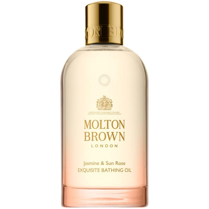 Molton Brown Jasmine & Sun Rose Exquisite Bathing Oil (200ml) i gruppen Kroppspleie  / Kroppsrengjøring og skrubb / Bad & dusjolje hos Bangerhead.no (B046663)