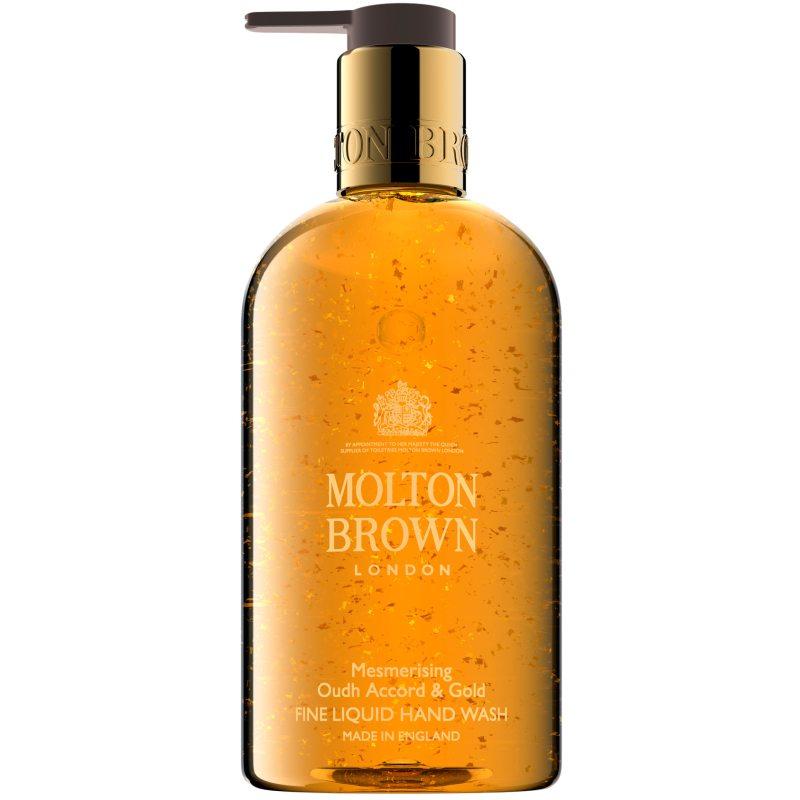 Molton Brown Mesmerising Oudh Accord & Gold Fine Liquid Hand Wash (300ml) i gruppen Kroppsvård / Händer & fötter / Handtvål hos Bangerhead (B046664)