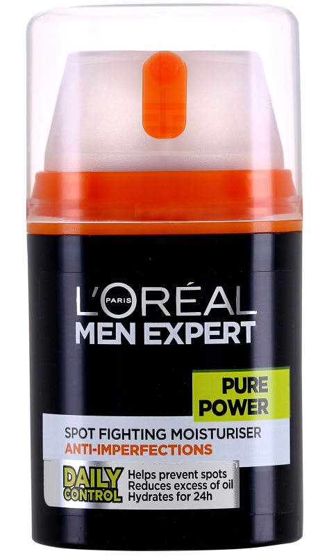 LOréal Men Expert Pure Power Treat Moisturiser Anti-breakout (50ml) ryhmässä Miehet / Ihonhoito miehille / Kasvovoiteet miehille at Bangerhead.fi (B046820)