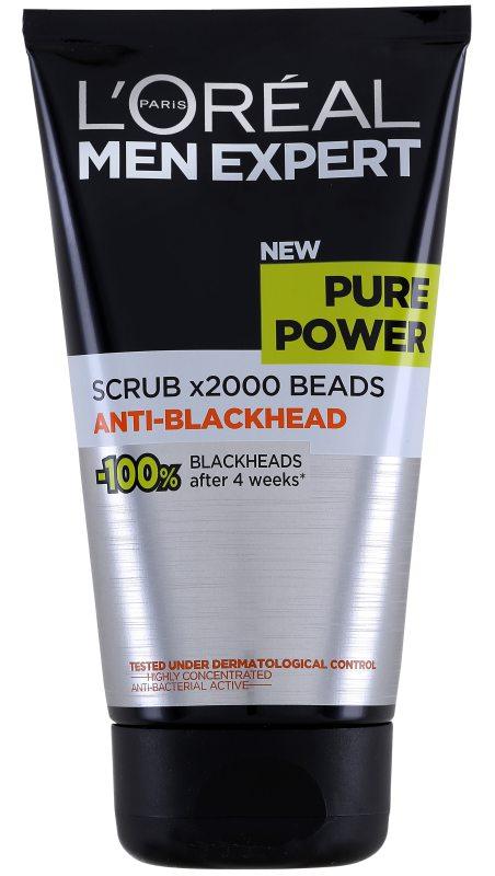 L'Oréal Men Expert Pure Power Anti-Blackhead Scrub (150ml) i gruppen Man / Hudvård för män / Scrub & peeling för män hos Bangerhead (B046821)