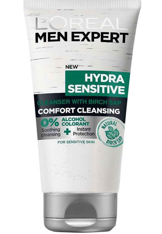 LOréal Men Expert Hydra Sensitive Wash (150ml) ryhmässä Miehet / Ihonhoito miehille / Puhdistustuotteet miehille at Bangerhead.fi (B046833)