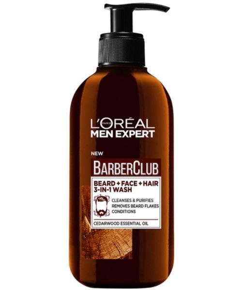 LOréal Men Expert Men Expert Barber Club Wash (200ml) ryhmässä Miehet / Ihonhoito miehille / Puhdistustuotteet miehille at Bangerhead.fi (B046839)