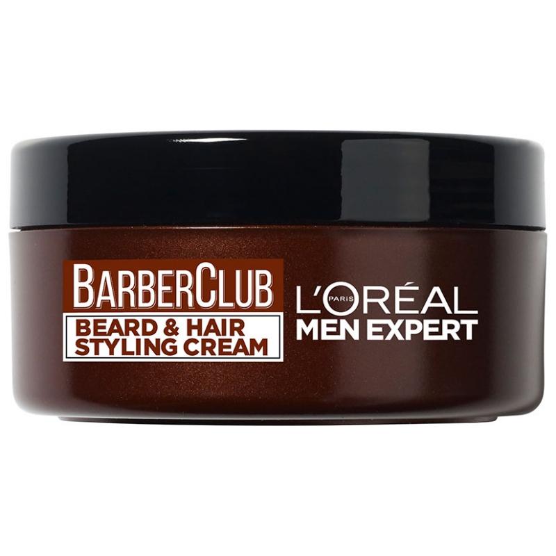 L'Oréal Men Expert Men Expert Barber Club Styling Cream (75ml) i gruppen Man / Rakning & grooming för män / Groomingolja & vax hos Bangerhead (B046840)