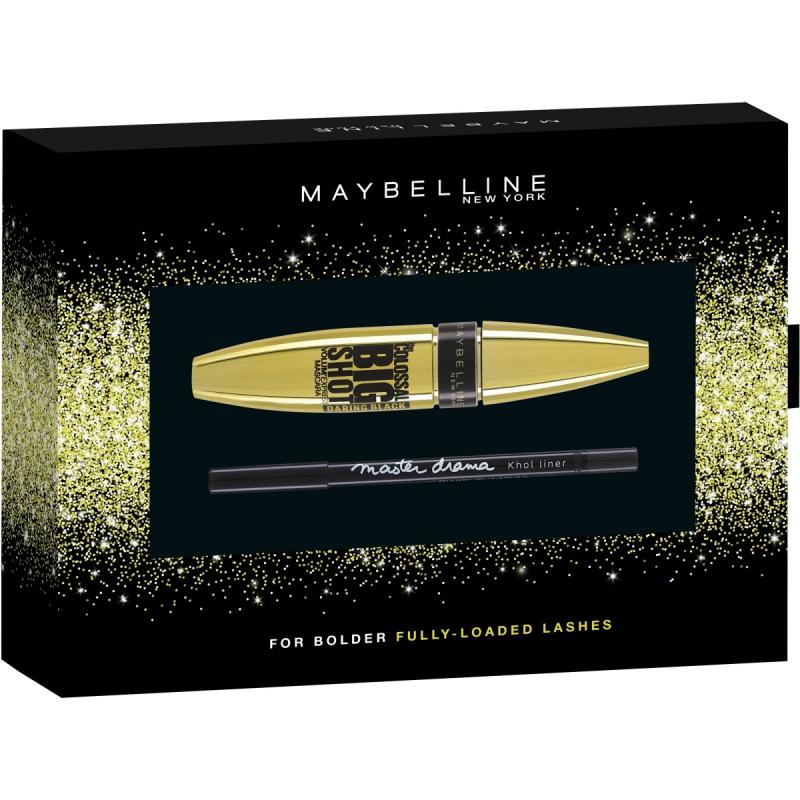 Maybelline Colossal Big Shot Daring Black Mascara & Master Drama Kohl Liner Kit ryhmässä Black Friday / Meikkisuosikit at Bangerhead.fi (B048133)