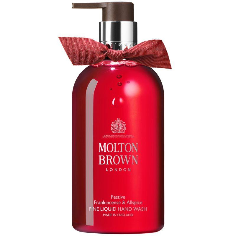 Molton Brown Festive Frankincense & Allspice Fine Liquid Hand Wash (300ml) i gruppen Kroppsvård & spa / Händer & fötter / Handtvål hos Bangerhead (B048439)