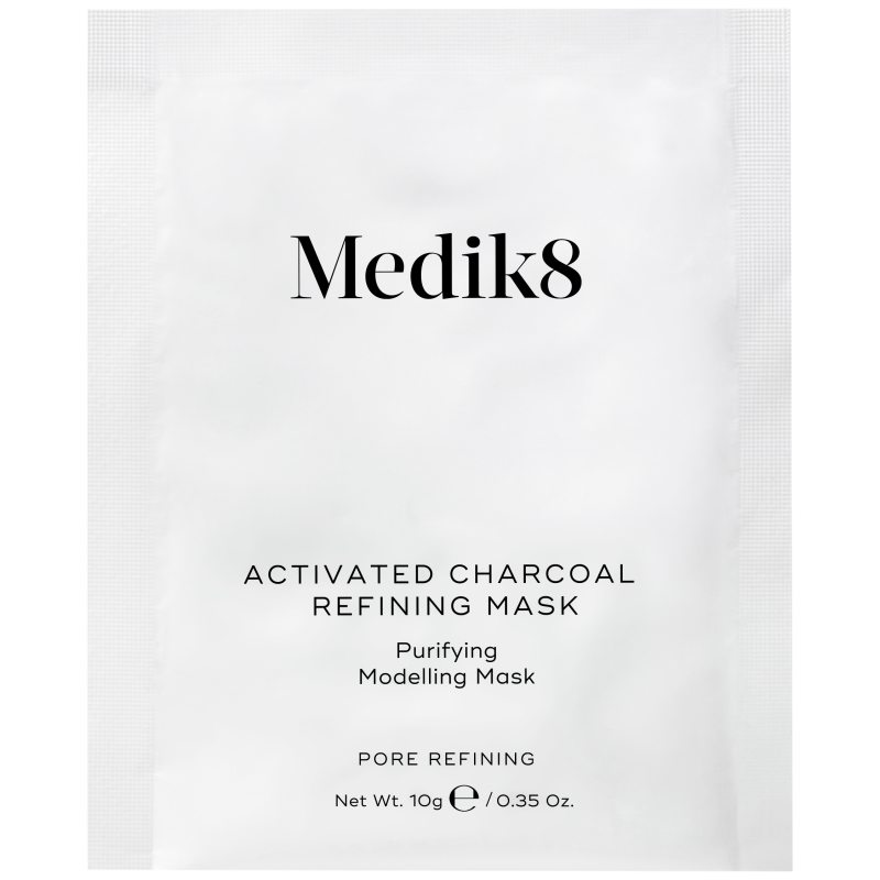 Medik8 Activated Charcoal Refining Mask (5x10g) ryhmässä Ihonhoito / Kasvonaamiot / Peel off -naamiot at Bangerhead.fi (B048524)