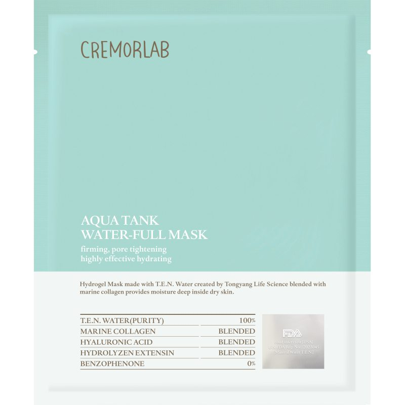Cremorlab Aqua Tank Water-Full Mask i gruppen K-Beauty / Hudpleiesteg 1-10 / Steg 7 - Sheet masks hos Bangerhead.no (B048547)