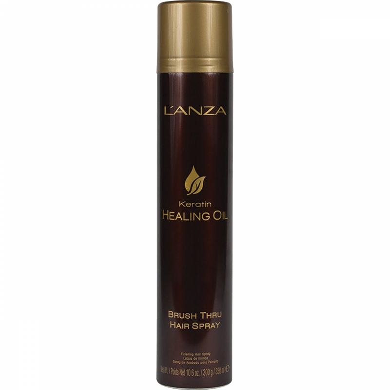 Lanza Keratin Healing Oil Brush Thru Hair Spray (350ml) i gruppen Hårpleie / Styling / Hårspray hos Bangerhead.no (B048799)