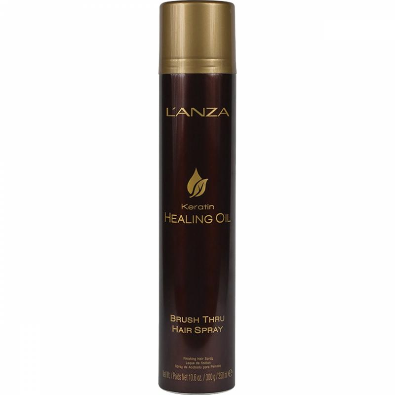 Lanza Keratin Healing Oil Brush Thru Hair Spray (350ml) ryhmässä Hiustenhoito / Muotoilutuotteet / Hiuslakat at Bangerhead.fi (B048799)