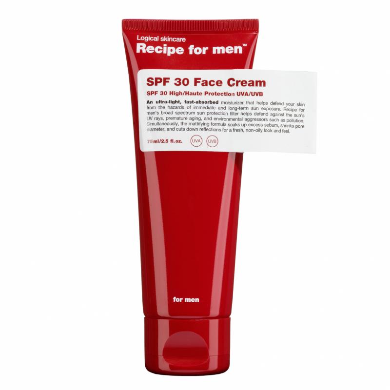 Recipe For Men SPF30 Face Cream (75ml) ryhmässä Ihonhoito / Kasvojen kosteutus / Päivävoiteet aurinkosuojalla at Bangerhead.fi (B048855)