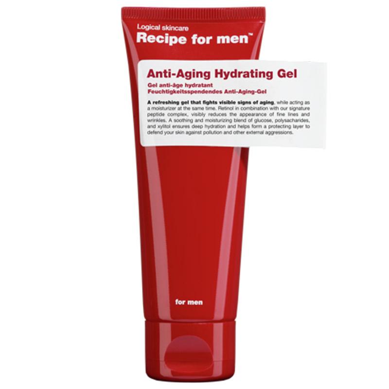 Recipe For Men Anti Aging Gel (75ml) ryhmässä Miehet / Ihonhoito miehille / Kasvovoiteet miehille at Bangerhead.fi (B048856)