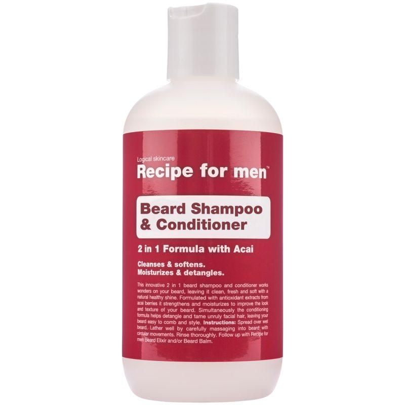 Recipe For Men Beard Shampoo & Conditioner (250ml) ryhmässä Miehet / Parranajo & grooming miehille / Partaöljyt & vahat miehille at Bangerhead.fi (B048874)