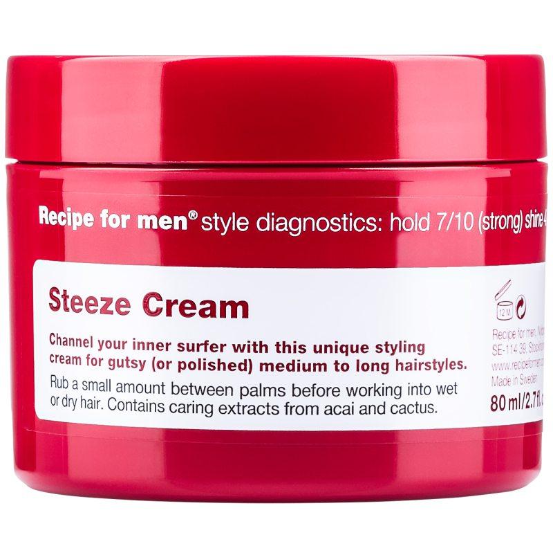 Recipe For Men Steeze Cream (80ml) ryhmässä Miehet / Hiustenhoito miehille / Muotoilutuotteet miehille at Bangerhead.fi (B048879)