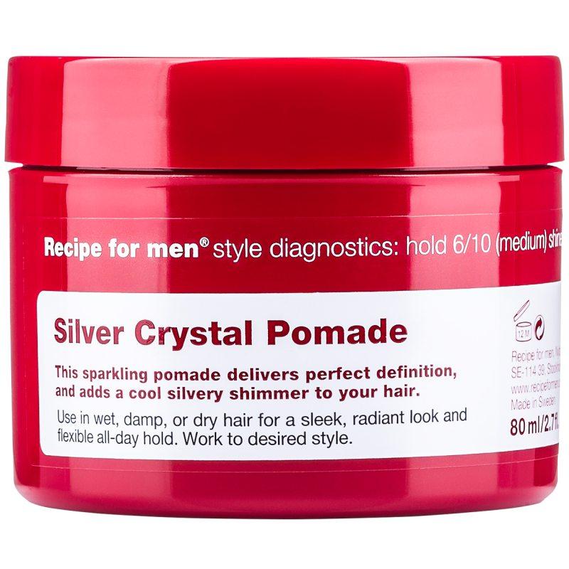Recipe For Men Silver Crystal Pomade (80ml) ryhmässä Miehet / Hiustenhoito miehille / Muotoilutuotteet miehille at Bangerhead.fi (B048881)
