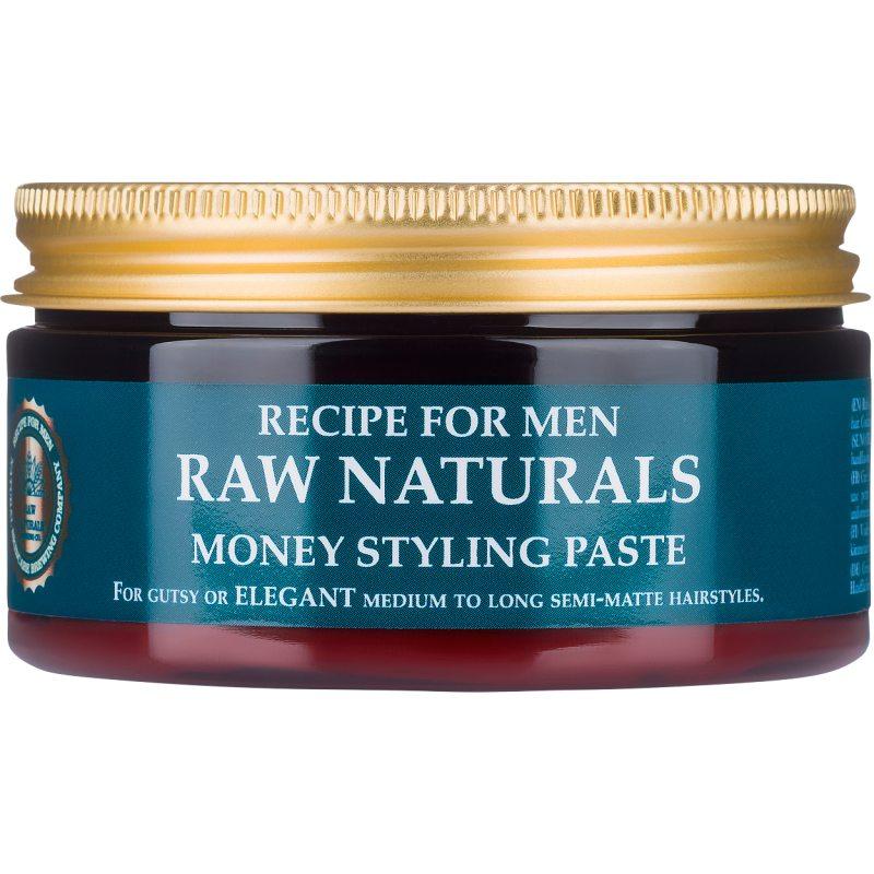 Raw Naturals Money Styling Paste (100ml) ryhmässä Miehet / Hiustenhoito miehille / Muotoilutuotteet miehille at Bangerhead.fi (B048885)