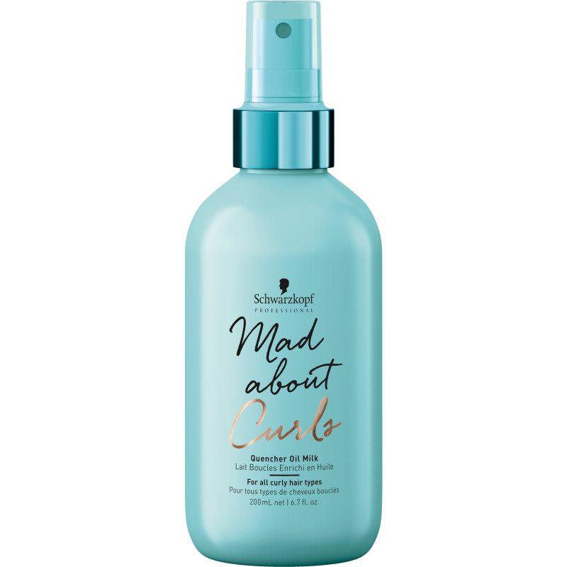 Schwarzkopf Professional Mad About Curls Quench Oil Milk (200ml) ryhmässä Hiustenhoito / Muotoilutuotteet / Hiusöljyt at Bangerhead.fi (B049001)