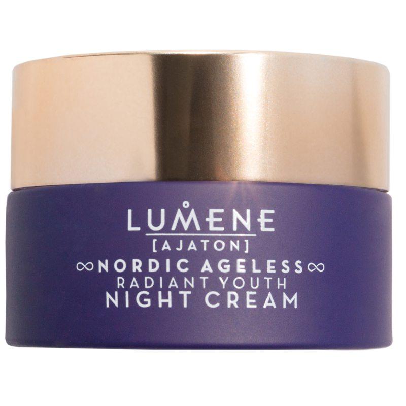 Lumene Ajaton Nordic Ageless Radiant Youth Night Cream (50ml) ryhmässä Ihonhoito / Kasvojen kosteutus / Yövoiteet at Bangerhead.fi (B049200)