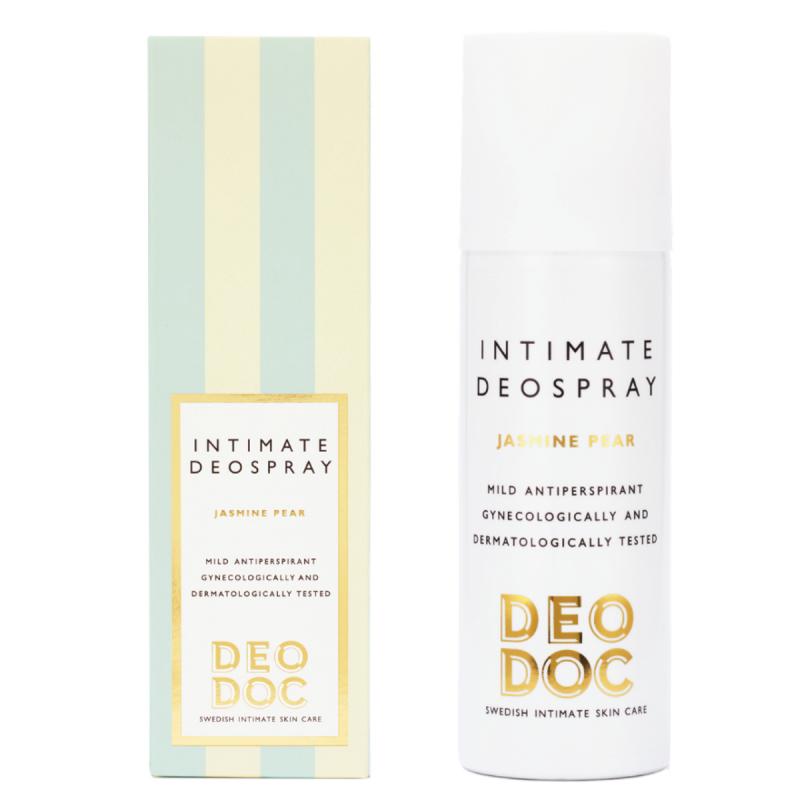 DeoDoc Deospray Intimate Jasmine Pear (125ml) i gruppen Kroppsvård & spa / Kroppsrengöring / Intimprodukter hos Bangerhead (B049379)