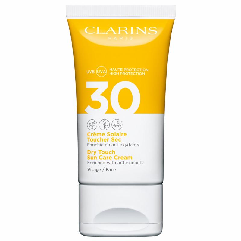 Clarins Dry Touch Sun Care Cream SPF30 Face (30ml) ryhmässä Ihonhoito / Aurinko & rusketus kasvoille / Aurinkosuojat kasvoille at Bangerhead.fi (B049437)
