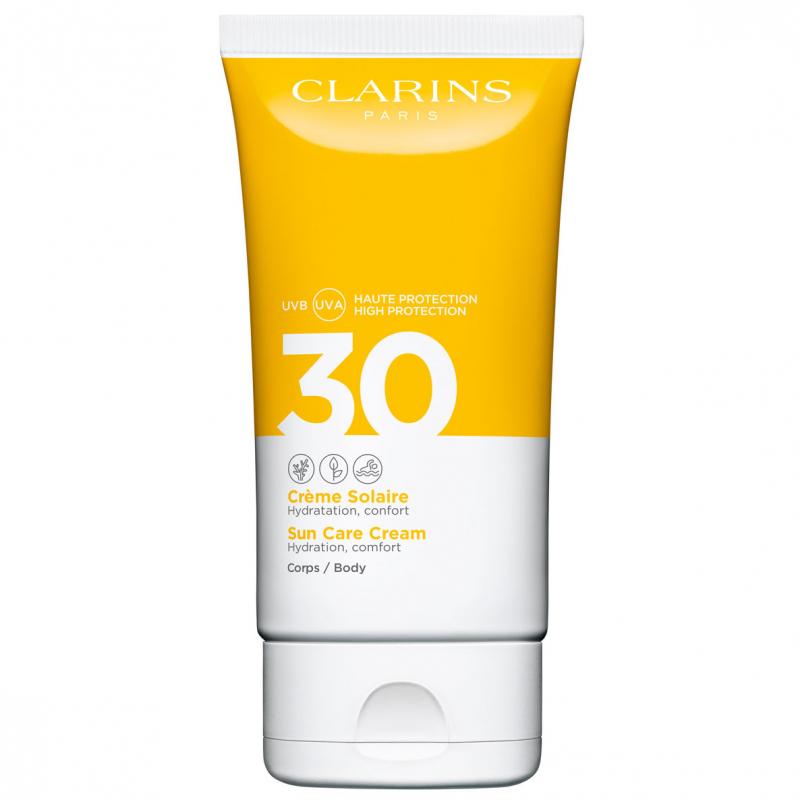 Clarins Sun Care Cream SPF 30 Body (150ml) ryhmässä Vartalonhoito & spa / Aurinkotuotteet vartalolle / Aurinkosuojat at Bangerhead.fi (B049439)