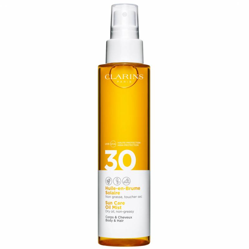 Clarins Sun Care Oil Mist SPF 30 Body (150ml) ryhmässä Vartalonhoito & spa / Aurinkotuotteet vartalolle / Aurinkoöljyt at Bangerhead.fi (B049440)