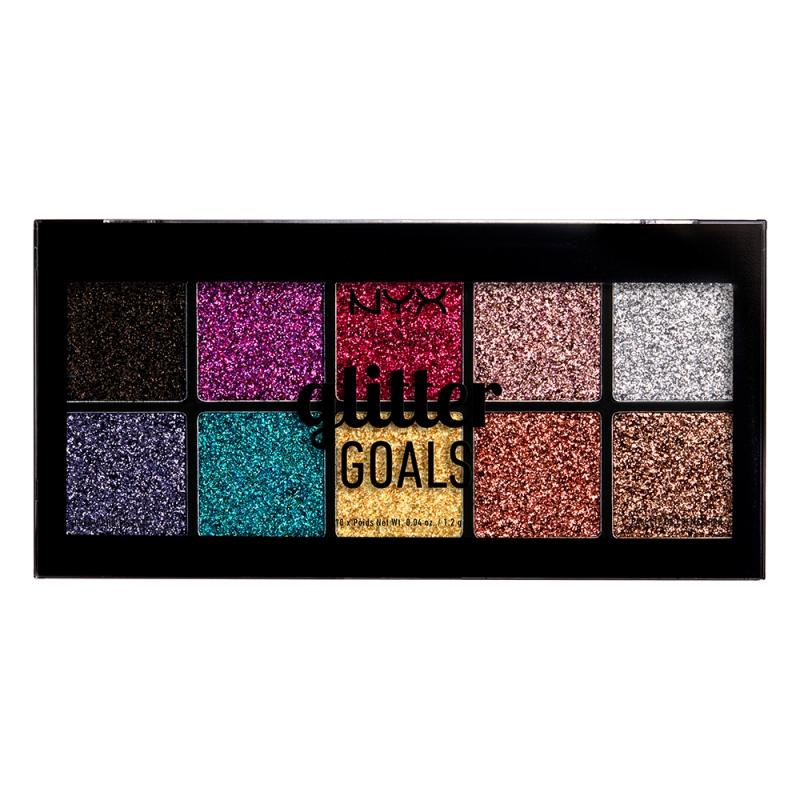 NYX Professional Makeup Glitter Goals Cream Pro Palette ryhmässä Meikit / Silmät / Luomiväripaletit at Bangerhead.fi (B049688)