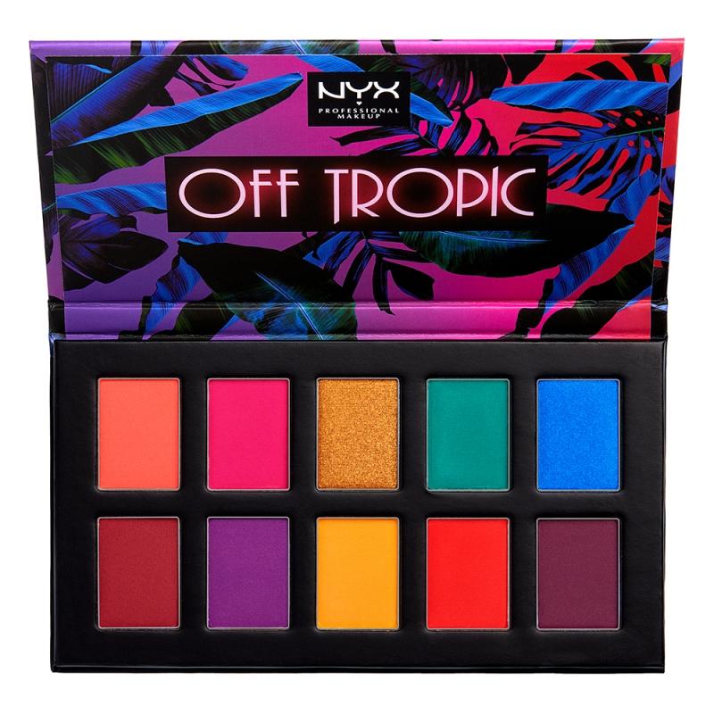 NYX Professional Makeup Off Tropic Shadow Palette ryhmässä Meikit / Silmät / Luomiväripaletit at Bangerhead.fi (B049689r)