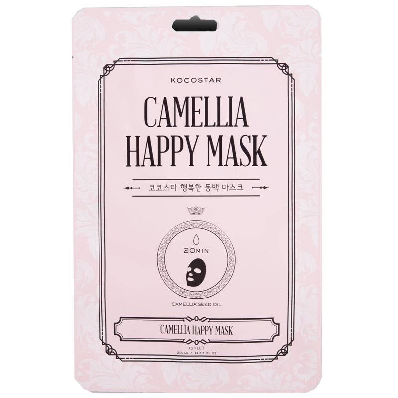 KOCOSTAR Camellia Happy Mask ryhmässä Ihonhoito / Kasvonaamiot / Kangasnaamiot at Bangerhead.fi (B050599)