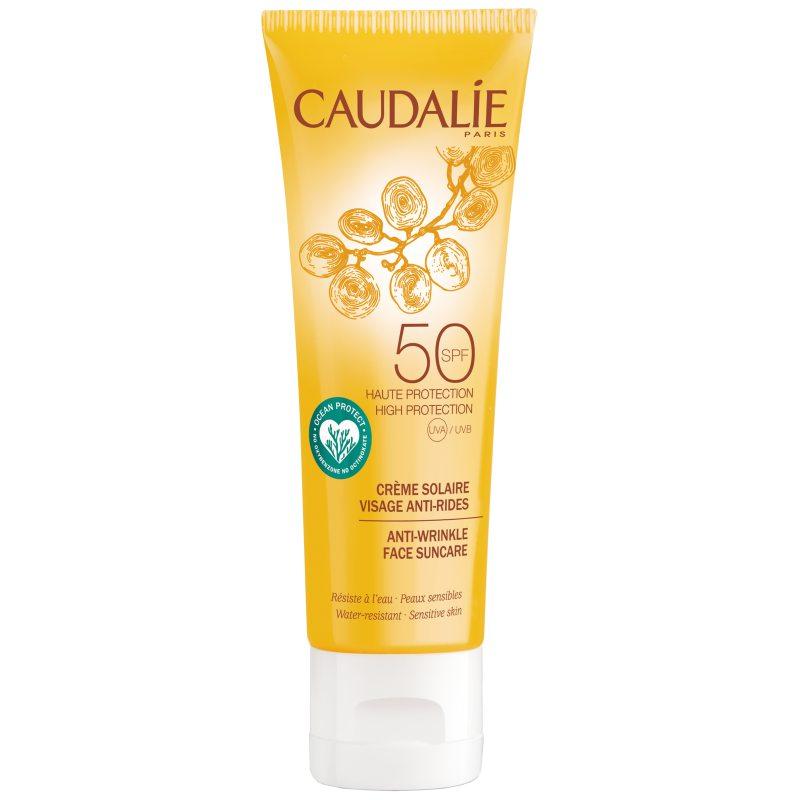 Caudalie Anti-Wrinkle Face Suncare SPF50 (50ml) i gruppen Hudvård / Sol & tan för ansikte / Solskydd för ansikte hos Bangerhead (B051044)