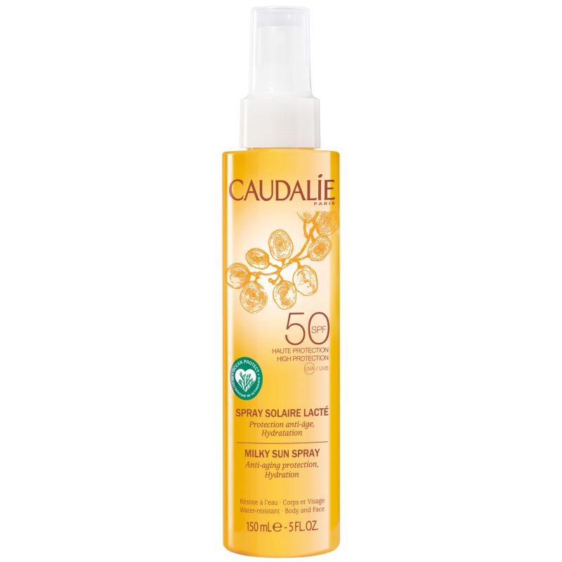 Caudalie Milky Sun Spray SPF 50 (150ml) i gruppen Hudvård / Sol & Tan ansikte & kropp / Solskydd hos Bangerhead (B051046)