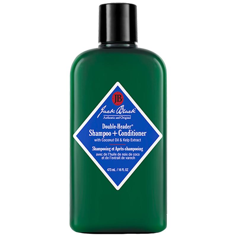Jack Black Double-Header Shampoo + Conditioner (473ml) ryhmässä Miehet / Hiustenhoito miehille / Hoitoaineet miehille at Bangerhead.fi (B051570)