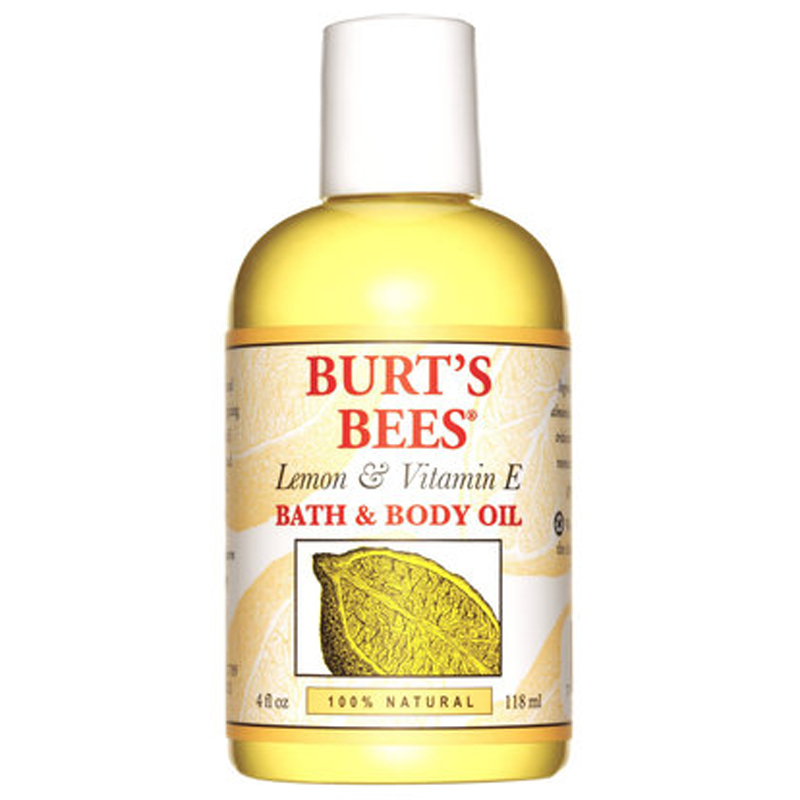 Burt's Bees Bath and Body Oil Lemon & Vitamin E (118ml) i gruppen Kroppsvård / Kroppsrengöring & scrub / Badolja & duscholja hos Bangerhead (B051578)