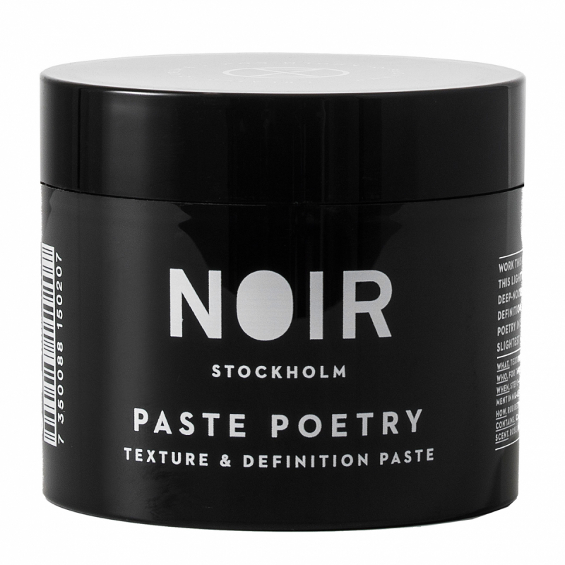 Noir Stockholm Paste Poetry Definition Paste (100ml) ryhmässä Hiustenhoito / Muotoilutuotteet / Hiusvahat & muotoiluvoiteet at Bangerhead.fi (B052116)
