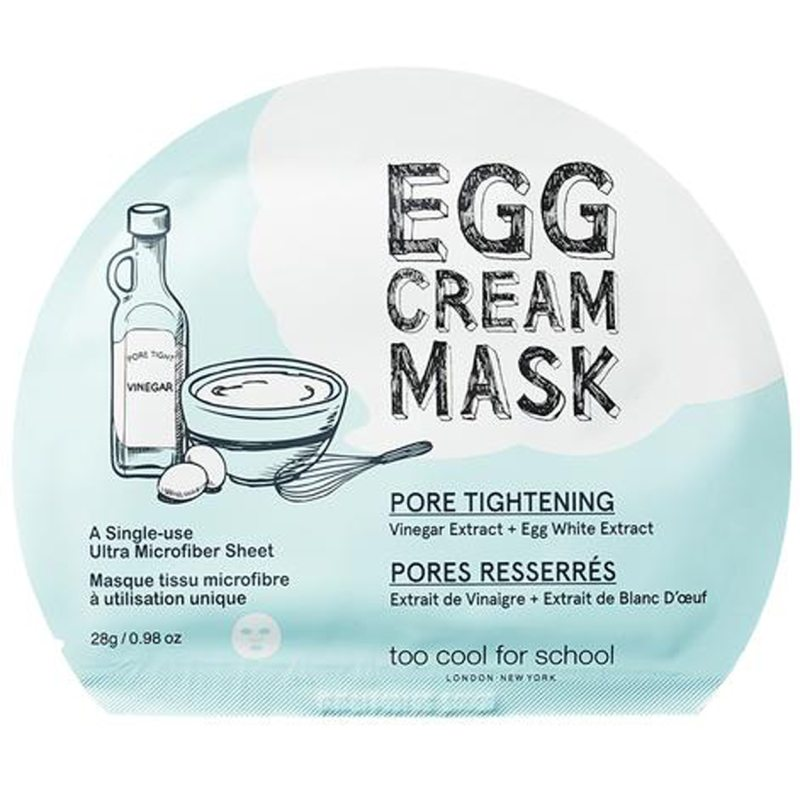 Too Cool for School Egg Cream Mask Pore Tightening (28g) ryhmässä K-Beauty / Korealainen ihonhoitorutiini / 7. Kangasnaamio at Bangerhead.fi (B052569)