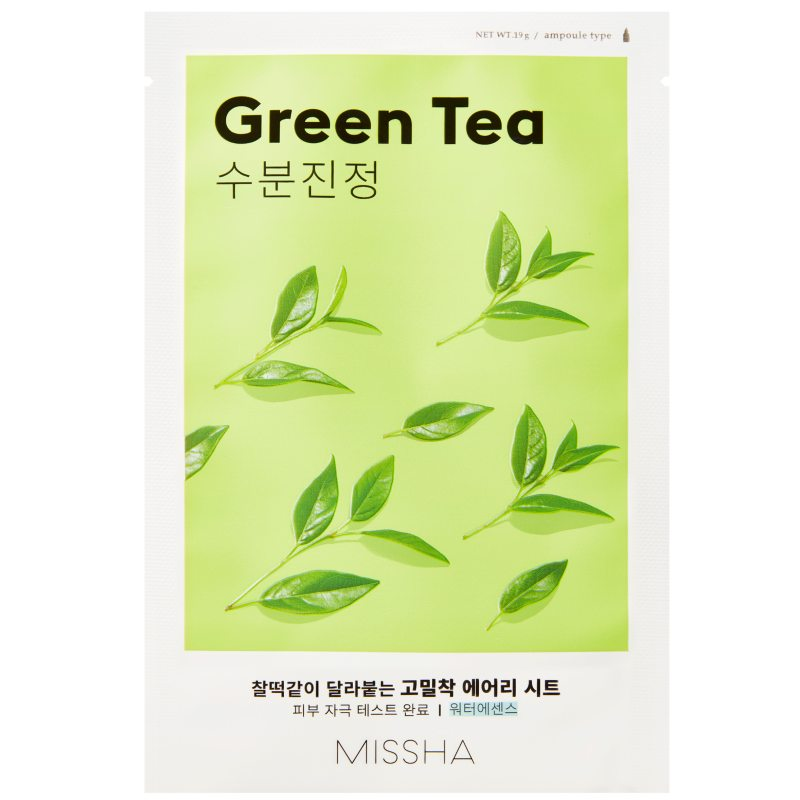 Missha Airy Fit Sheet Mask Green Tea  i gruppen K-Beauty / Hudpleiesteg 1-10 / Steg 7 - Sheet masks hos Bangerhead.no (B052619)