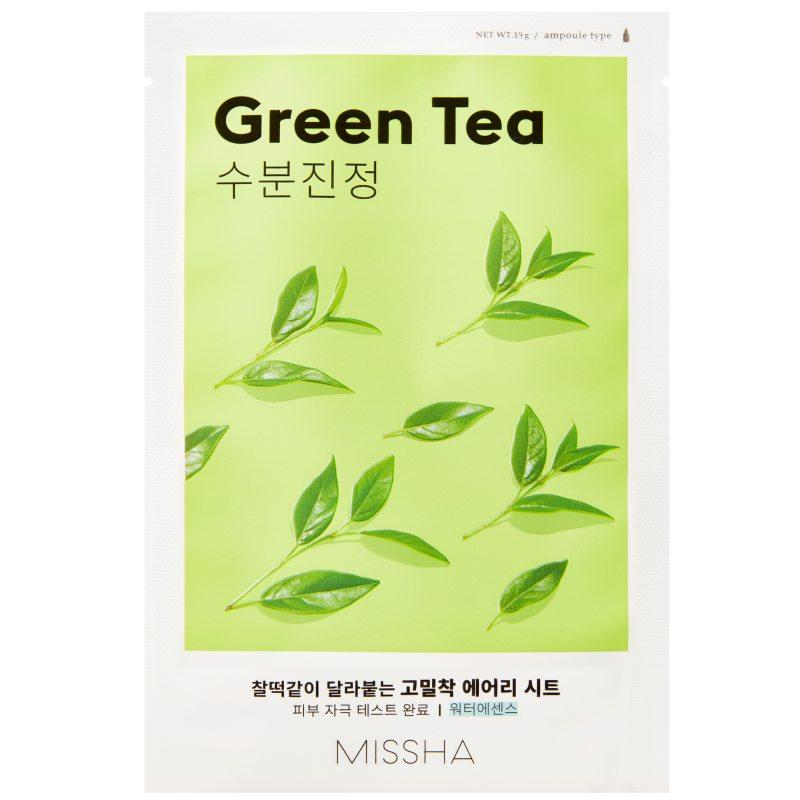 Missha Airy Fit Sheet Mask Green Tea  ryhmässä Ihonhoito / K-Beauty Ihonhoito / Kasvonaamiot at Bangerhead.fi (B052619)