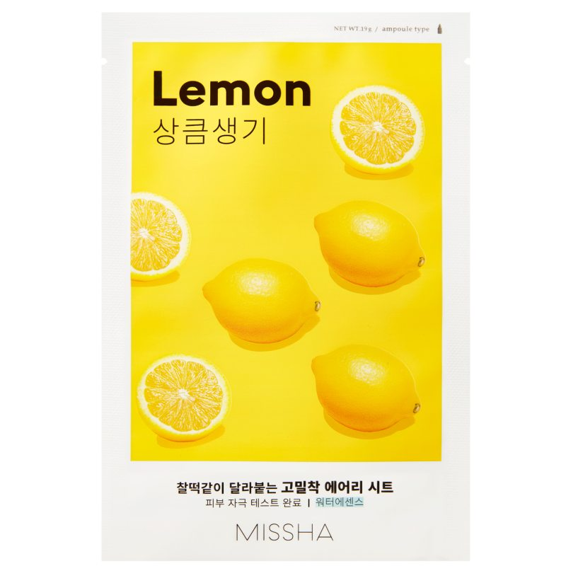 Missha Airy Fit Sheet Mask Lemon  ryhmässä K-Beauty / Korealainen ihonhoitorutiini / 7. Kangasnaamio at Bangerhead.fi (B052620)