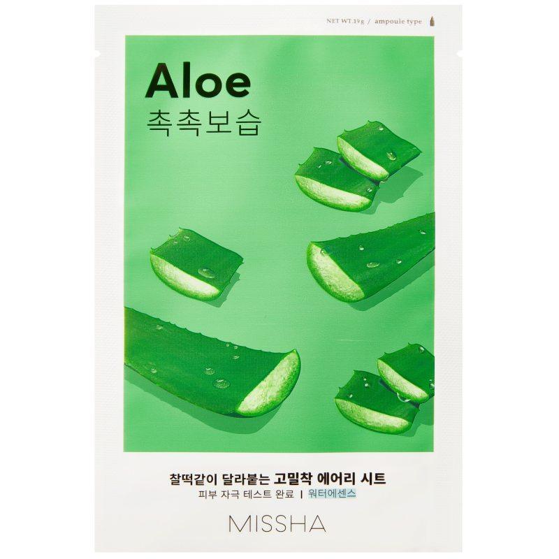 Missha Airy Fit Sheet Mask Aloe  ryhmässä K-Beauty / Korealainen ihonhoitorutiini / 7. Kangasnaamio at Bangerhead.fi (B052621)