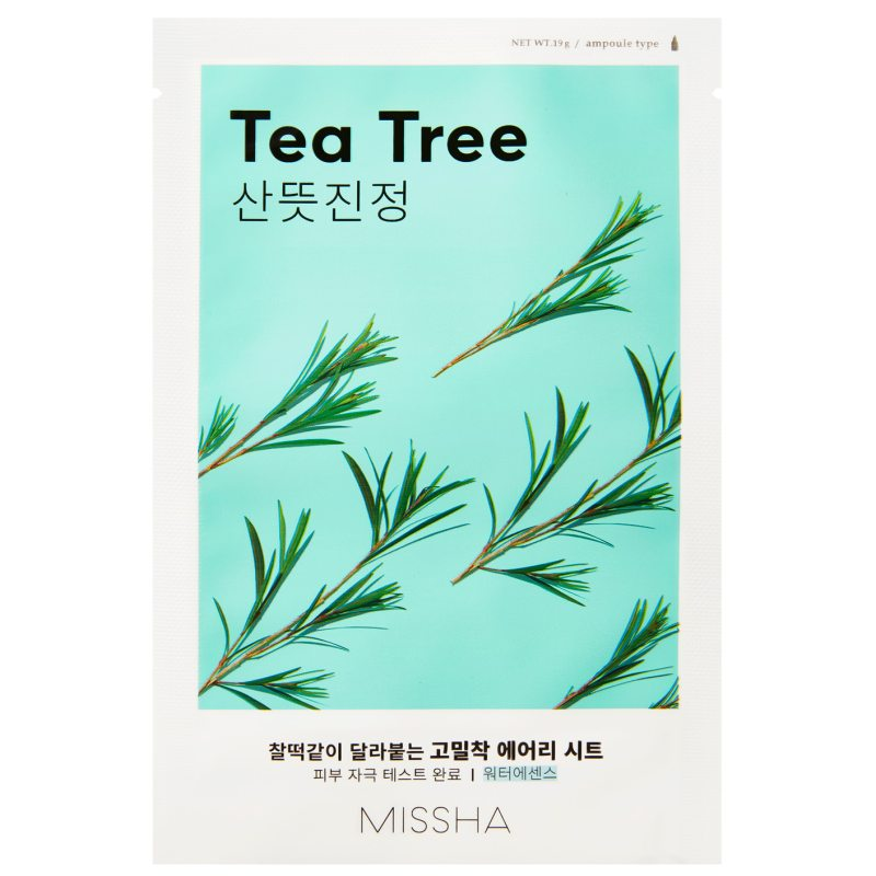 Missha Airy Fit Sheet Mask Tea Tree  ryhmässä K-Beauty / Korealainen ihonhoitorutiini / 7. Kangasnaamio at Bangerhead.fi (B052622)