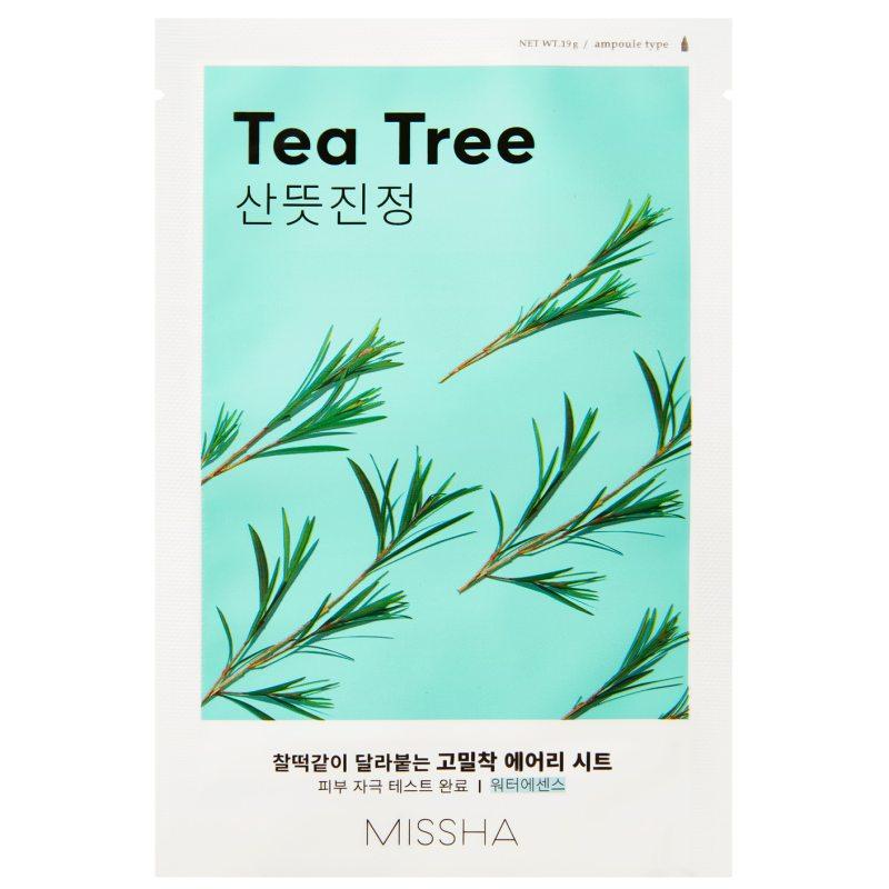 Missha Airy Fit Sheet Mask Tea Tree  i gruppen K-Beauty / Hudpleiesteg 1-10 / Steg 7 - Sheet masks hos Bangerhead.no (B052622)