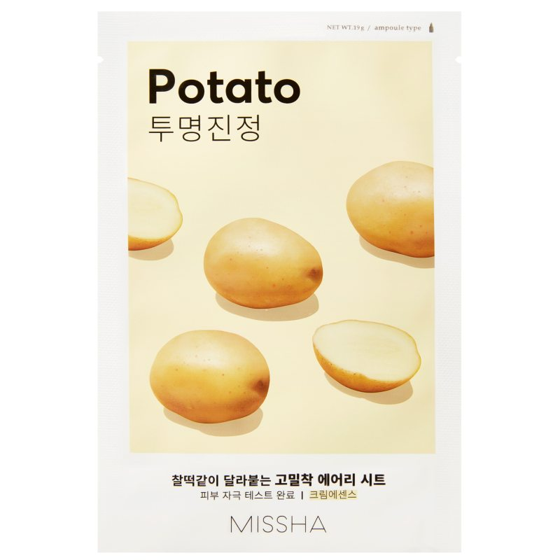 Missha Airy Fit Sheet Mask Potato  ryhmässä K-Beauty / Korealainen ihonhoitorutiini / 7. Kangasnaamio at Bangerhead.fi (B052623)