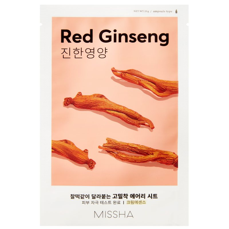 Missha Airy Fit Sheet Mask Red Ginseng  ryhmässä Ihonhoito / K-Beauty Ihonhoito / Kasvonaamiot at Bangerhead.fi (B052624)