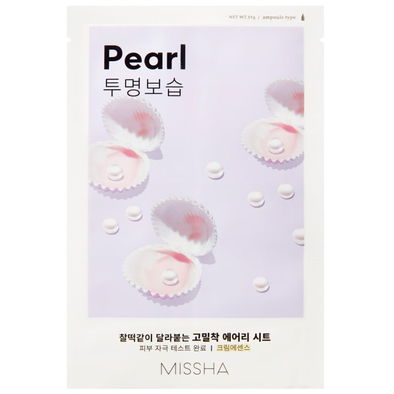 Missha Airy Fit Sheet Mask Pearl   i gruppen K-Beauty / Skincare step 1-10 / Step 7 - Sheet masks hos Bangerhead (B052625)