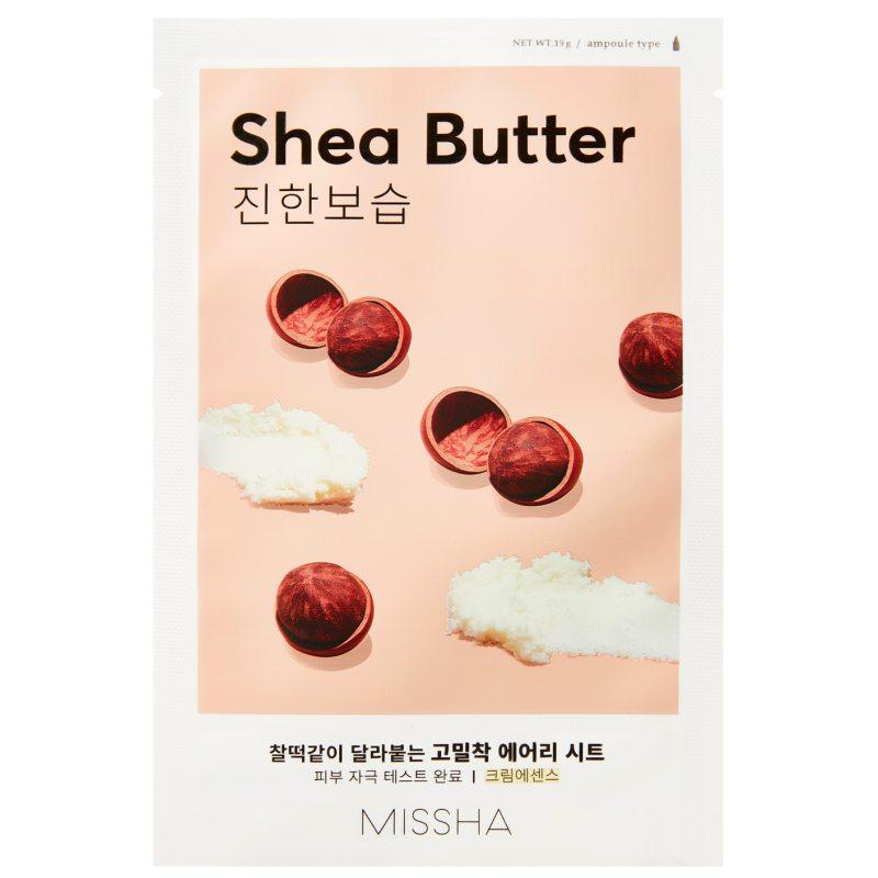 Missha Airy Fit Sheet Mask Shea Butter  ryhmässä Ihonhoito / K-Beauty Ihonhoito / Kasvonaamiot at Bangerhead.fi (B052626)