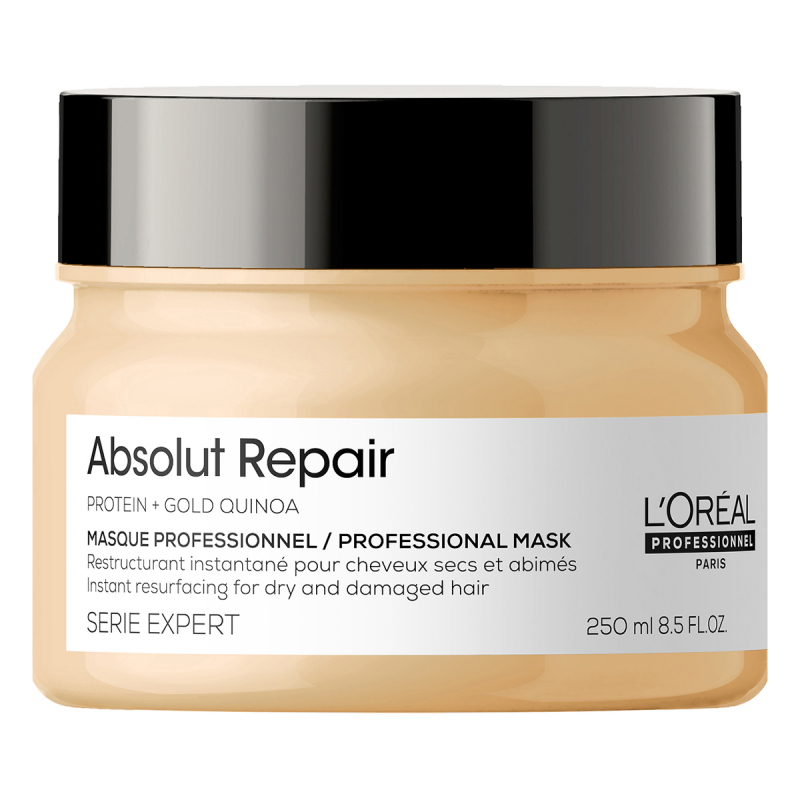 LOreal Professionnel Absolut Repair Gold Instant Resurfacing Masque ryhmässä Hiustenhoito / Hiusnaamiot ja hoitotuotteet / Naamiot at Bangerhead.fi (B053289r)