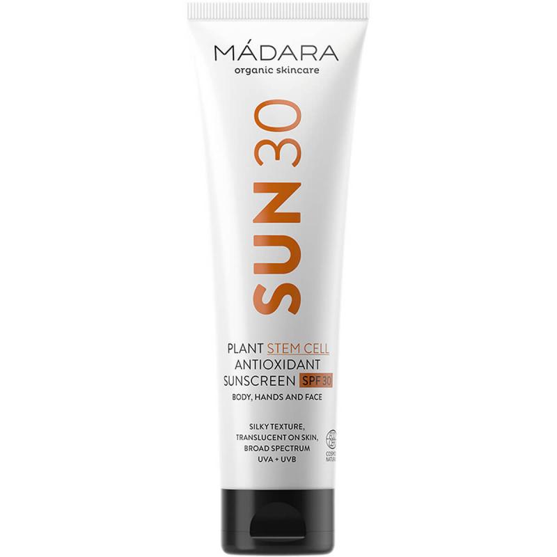 Madara Plant Stem Cell Antioxidant Sunscreen SPF30 (100ml) ryhmässä Ihonhoito / Aurinkotuotteet kasvoille / Aurinkosuojat kasvoille at Bangerhead.fi (B053338)