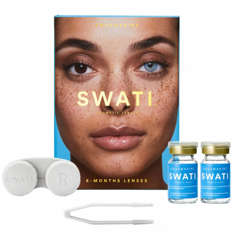 SWATI Cosmetic Lenses Aquamarine i gruppen Makeup / Øyne / Linser hos Bangerhead.no (B053971)