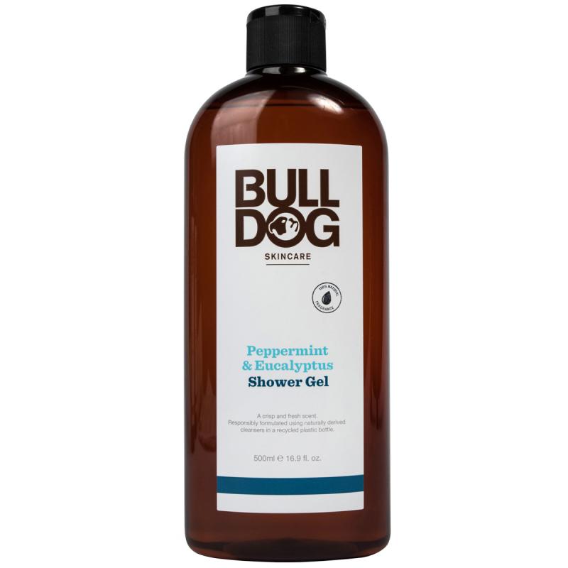 Bulldog Peppermint & Eucalyptus Shower Gel (500ml) ryhmässä Miehet / Vartalonhoito miehille / Suihkugeelit miehille at Bangerhead.fi (B055647)
