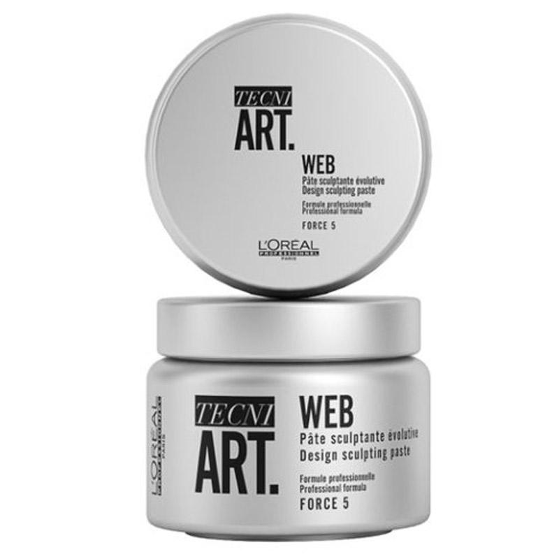 L'Oréal Professionnel Tecni.Art Web Styling Paste (150ml) ryhmässä Hiustenhoito / Muotoilutuotteet / Hiusvahat & muotoiluvoiteet at Bangerhead.fi (B056801)